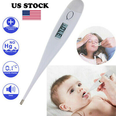 Digital LCD Medical Thermometer Heating Fever Temperature Baby Body Adult Tester