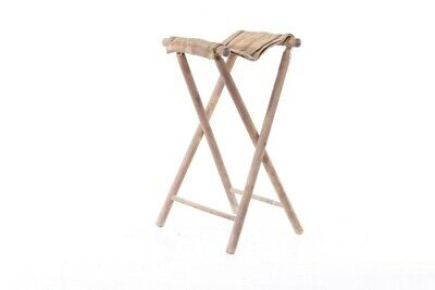 Old Wood Stool Folding Vintage Retro Design Iconic Chair Wooden Stool, Kitchen