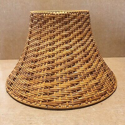 Vintage Medium Rattan Wicker Woven Lamp Light Pendant Ceiling Shade 21  Cm H
