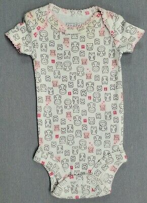 Baby Girl Clothes Precious Firsts Carter's Preemie Gray Pink Owls Bodysuit