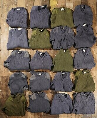 20 vintage woollen army navy RAF surplus jumpers assorted sizes 70s to 90s