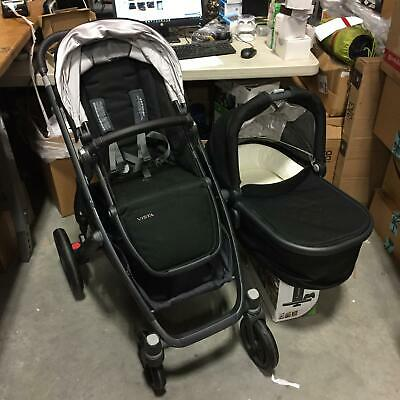 UPPAbaby Vista Baby Toddler Single Seat Stroller with Bassinet in Jake BlacK
