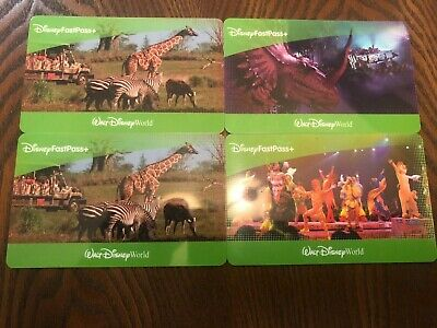 6x 1 Day Disney World Park Hopper Tickets (4 with Fast Pass)