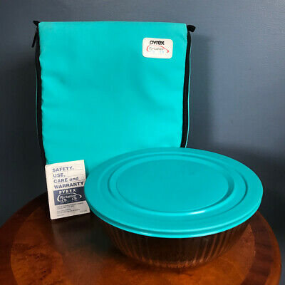 Pyrex Portables The Way To Go Insulated Carrying Case & 4-Qt Pyrex Bowl USA