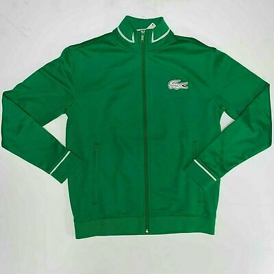 Lacoste Boys Sport Tennis Track Jacket Full Zip Sweatshirt 14 Green White