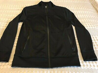 Express Mens Athletic Casual Track Full Zip Jacket - Black - S Small