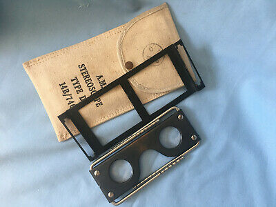Rare And Collectible Ww2 Raf Air Ministry Marked Stereoscope In Original Pouch