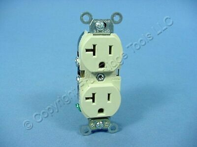 Leviton Ivory INDUSTRIAL Receptacle SLIM Body Duplex Outlet 5-20R 20A 5362-SI