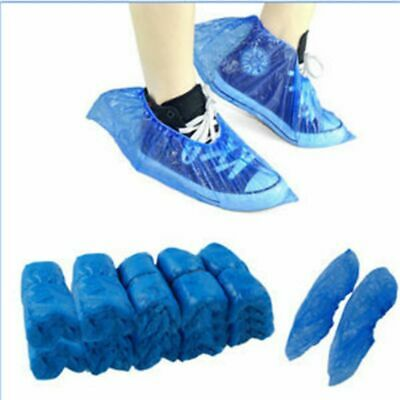 400PCS Waterproof Boot Covers Plastic Disposable Shoe Covers Overshoes UK