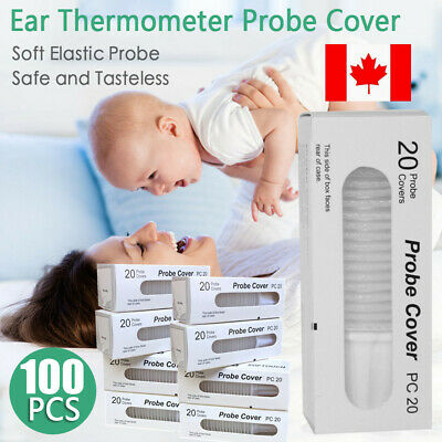 100PC Braun Probe Covers Thermoscan Replacement Lens Ear Thermometer Filter Caps