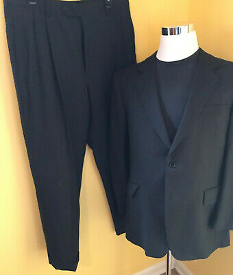 """Jos. A. Bank 2Btn Blue """"Signature Gold"""" Double Breasted"""" Men's suit 42R"""