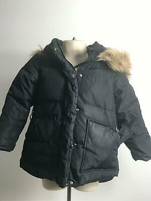 Girls Zara Girls Black Padded Hooded Warm Winter Coat Jacket Kids Age 5 Years