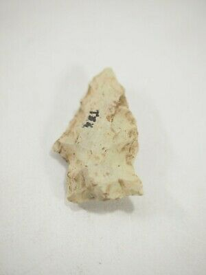 Nice Archaic-Paleo flint Contracting Stem Arrow head San Marco Texas NAA-283
