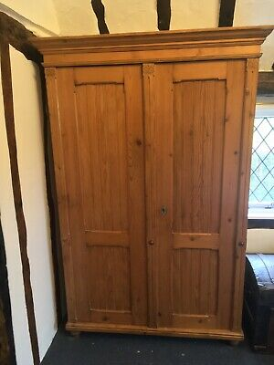 Antique French Wardrobe 18th Century Louis XIV Pine Armoire