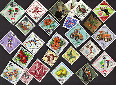 25 All Different Diamond Shaped  Stamps