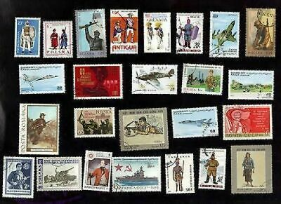 25 All Different Weaponry On Stamps