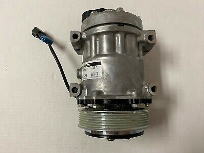 New Sanden 4819 A/C Compressor, Pad Mount, 2 Wire Plug, 6 Groove Pulley