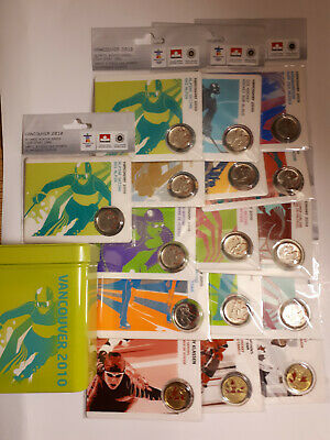 2010 Vancouver Olympic complete set of 16 Petro Canada Coin Cards RARE
