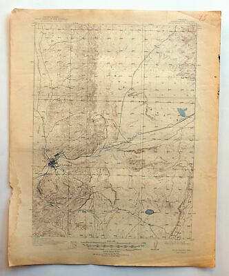 Rock Springs Wyoming Vintage USGS Topo Map 1910 Reliance 15-minute Topographical