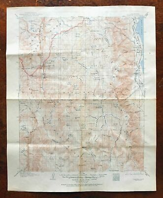 Olancha California Vintage USGS Topo Map 1907 Cartago Sequoia National Park