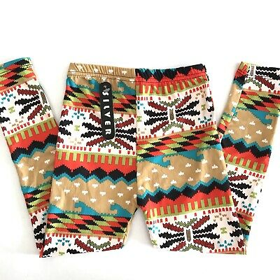 KIDS Toddler Leggings High Waisted Stretchy Tribal Print Buttery Super Soft S/M