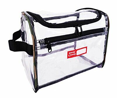 Rough Enough EcO clear Transparent cosmetic Travel Bag TSA Approved Multifunc...