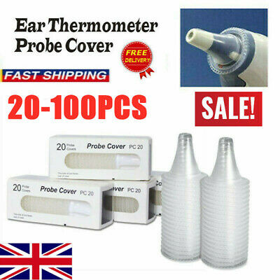 100 Braun Probe Covers Thermoscan Replacement Lens Ear Thermometer Filter Cap UK