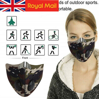Fitness Motorcycle Bicycle Cycling Anti Dust Pollution Half Face Mask Filter UK