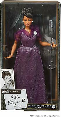 Barbie Inspiring Women Series Ella Fitzgerald Collectible 12-in Doll - New 2020