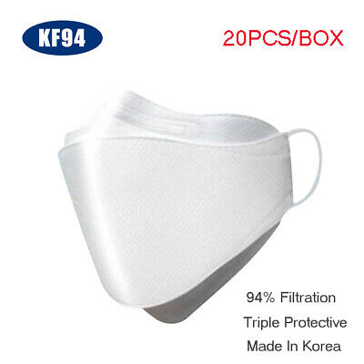 20pcs/Box KF94 Mouth Face Mask 3-Layer 94% Triple Filter Made In Korea Hot Sale!