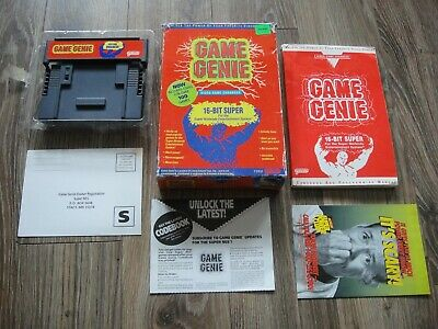 Game Genie For Super Nintendo Snes In Box With Codebook Manual