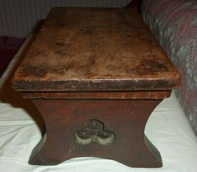 Vintage Wooden Stool, milking or meditation stool, lovely patina and carving