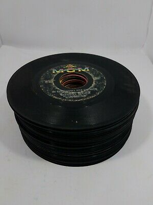"""Vintage - 45 RPM - 7"""" Vinyl Records - Rockabilly-Country 50-60-70s - Lot of 39"""