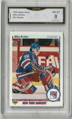 1990 Upper Deck (UD) -Mike Richter Rookie- New York Rangers/  GMA NM-MT 8