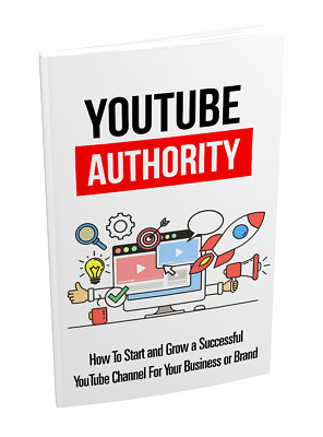 YouTube Authority eBooks (eBook-PDF file) WITH MASTER RESELL RIGHTS Great!