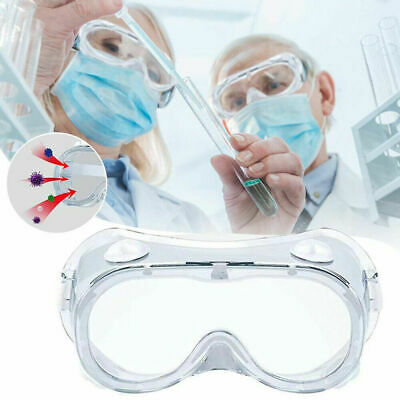 Protective Glasses Lab Work Anti-fog Seal Eye Protection Goggles 1-6 PC