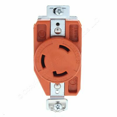 New Arrow Hart Orange Single Locking Receptacle 30A 250V NEMA L6-30R 2P3W IG6340