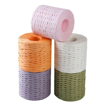 Raffia Ribbon Rope Palm Packaging Rope Paper Baking Box Candy Gifts Decor JH