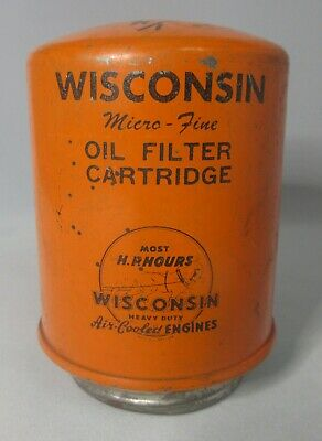 Vintage WISCONSIN Air Cooled Heavy Duty Engines Oil Filter Cartridge RV-40