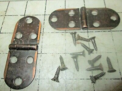 Singer Sewing Machine Cabinet Hinges Set with screws - some finish loss