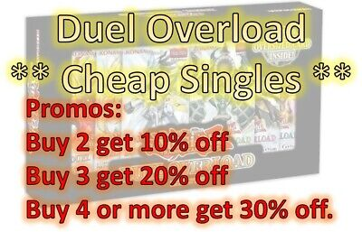Yu-Gi-Oh Set: Duel Overload Cheap Singles! Up to 30% off when multi Buy! All NM