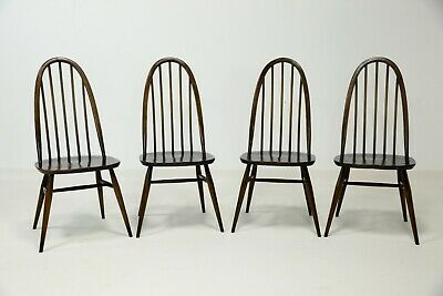 4 Ercol Quaker Windsor Chairs Retro Mid Century FREE SAFE Nationwide Delivery