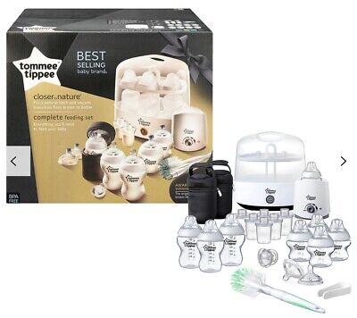 Tommee Tippee Black Complete Feeding Set - White