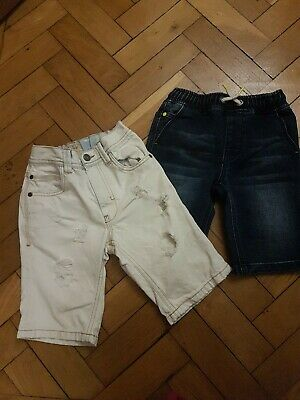 Boys Next Denim Shorts Bundle Age 7 Yrs 2 In Total knee length