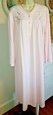NWT 2X Miss Elaine Nightgown Gown NEW SOFT & WARM Cozy Light PINK Cuddleknit
