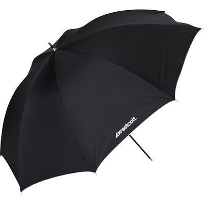 """Westcott Umbrella - White Satin with Removable Black Cover - 32"""""""