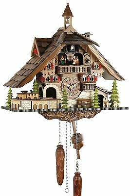 Black Forest House 41cm- Cuckoo Clock Cuckoo Clock Real Wood New