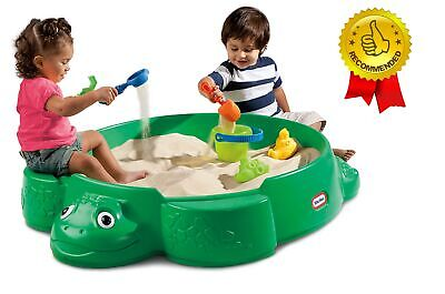 Turtle Sandbox with Cover  Seats Comfortable Clean Backyard Playset Outdoor fun