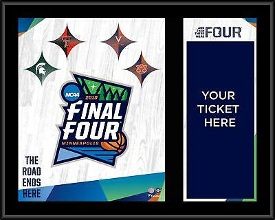 "2019 Mens Basketball Tourney March Madness Final Four 12"" x 15"" Ticket Plaque"
