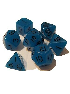 7pc//lot Glowing in the dark Dice Set D4//6//8//10//10/%//12//20 for Board Game TKFDES
